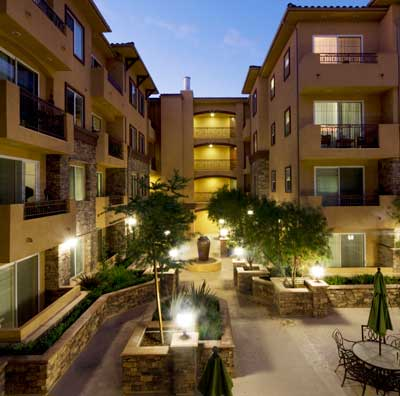 Andalucia Senior Apartments Courtyard View