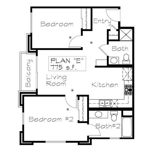 Plan E floor plan